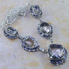 """ABSOLUTELY STUNNING HUGE GENUINE FLAWLESS WHITE TOPAZ 925 SILVER NECKLACE 193/4"""""""