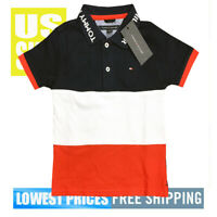 Tommy Hilfiger Boys New Born NWT Navy Blazer 100% Cotton Polo Shirt Size 3T / 3B