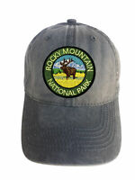 Rocky Mountain Park Adjustable Curved Bill Strap Back Dad Hat Baseball Cap