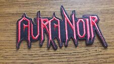 AURA NOIR,IRON ON RED EMBROIDERED PATCH