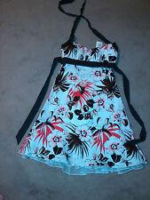 Dress White Brown Coral Sundress Halter Speechless Size 3 machine wash
