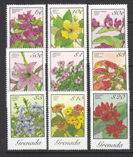 Grenada 1985 Flowers Hi-values part set MNH