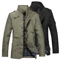 30695edc9dc New Fashion Men's Casual Jacket Autumn Spring Coat Outwear Man Overcoat  Plus siz