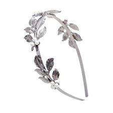 Bridal Hair Bands Gold/Silve Leaves Vintage Pearl Wedding Girl Tiara Headband