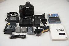 Nikon D700 12.1MP Digital SLR Camera Shutter Count 42970 w/ MB-D10 & accessories