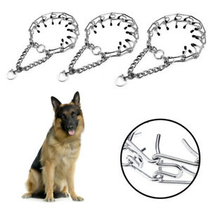 S /L  Dog Training Collar Pet Supply Metal Steel Prong-Pinch Choke Training ToDS