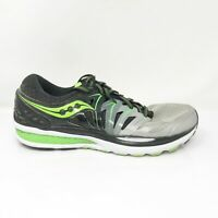 Saucony Mens Hurricane ISO 2 S20294-1 Black Grey Running Shoes Size 11.5 Wide