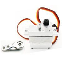 All Metal 9g Steering Gear Servo+Steering Arm for WPL B24 C34 B36 MN D90 RC Car