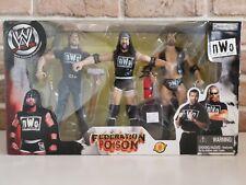 """WWF/WWE Jakks Wrestling Figure - nWo """"Federation Poison"""" - 3pc Box Set"""