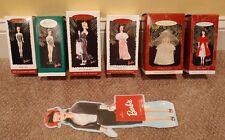 Barbie Hallmark Ornaments 1994-1996/Club Editions/Calendar:  Set of 7 - MIB
