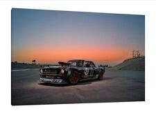 Ken Block Mustang 30x20 Inch Canvas - Framed Picture Poster Art