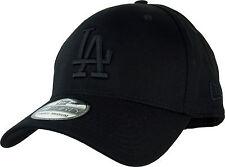 LA Dodgers Era 3930 Liga Essential Todo En Negro Gorra De Béisbol Stretch Fit