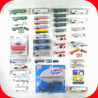 N Scale TRACTOR & TRAILER Variation lot -and Trucks, Vans, PiggyBack, Containers