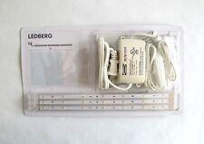 IKEA LEDBERG LED 3 Piece Lighting Strip Set White WARMWHITE PLUS+EXTRA+ 2 STRIPS