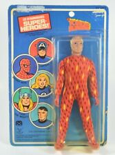 "Mego Human Torch 8"" Action Figure 1979 French Canadian Card Pin Pin Toys Vintage"
