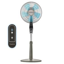 Quiet Indoor 16-in 4-Speed Adjustable Oscillating Floor Turbo Stand Fan & Remote