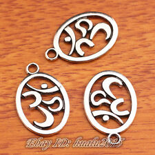 10 Pieces 22*5mm Charms 3D Yoga Tibetan Silver Jewelry Making Bracelet H7408