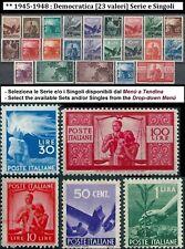 ** Italia 1945 1948 Repubblica: DEMOCRATICA [23 valori] Serie e Singoli