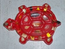Vintage Lucite Turtle Soap Dish Ashtray Red Rocks Made In Colorado