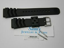 Genuine Seiko 22mm Diver Wave-Curve Vent Watch Band SKX175 6309 7002 7S26 #Z-22C