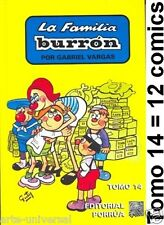FAMILIA BURRON TOMO 14 Book MEXICAN Borola *12 COMICS* NEW - HUMOUR IN SPANISH