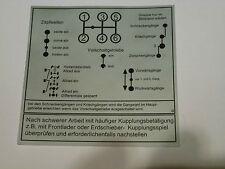 Unimog Boutons schéma Autocollant 421-403-406-416 vorschaltgetriebe