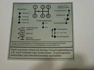 Unimog Schaltschema Aufkleber 421-403-406-416 Vorschaltgetriebe 155