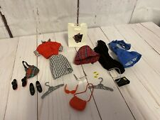 Vintage Barbie Skirt Black White Hounds Tooth Check Outfit Purses Shoes Tags