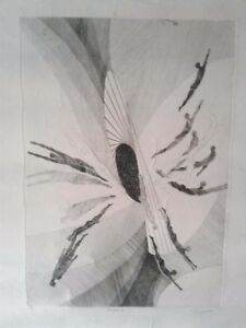 "Patrice Jeener Vintage Print ""Explosion"" 8/60 Copper Plate Engraving 20"" x 26"""