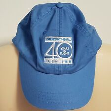 Intercontinental Aviation Hat BUSH IAH 40 Years in Flight Adult Strapback