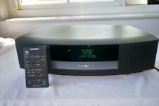 BOSE WAVE III AM/FM RADIO w ALARM CLOCK & REMOTE BLACK