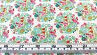 TILDA BUMBLEBEE FLORAL FLOWER NEST BLUE COTTON QUILT FABRIC