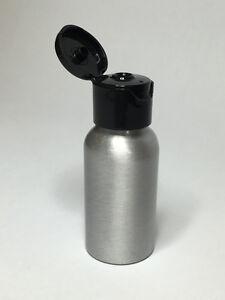 Empty 50ml Aluminium Boston Bottles With Black Flip Top Cap *ANY AMOUNT*