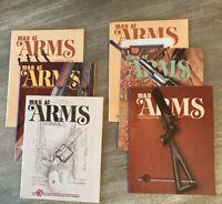 LOT 6 MAN AT ARMS Magazines Complete Year 1986 RIFLE HANDGUN SHOOTING SWORD NRA