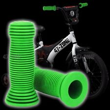 2x Green BMX OE Style Soft Rubber Bike Bicycle Handle Bar Non Slip Grip Covers