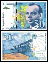 FRANCE 10 FRANCS 1997 P 157 pre Euro * Exupery , Airplane ***