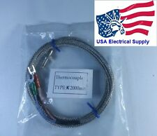New 2M K Type  Thread Sensors  Thermocouple Measurement Probe