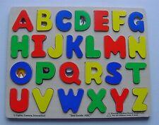 Lot 2 Wood Puzzle Frame Tray Melissa Doug Alphabet Abc Numbers 0-9 Educational