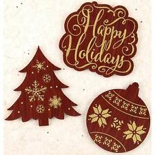 Prima Marketing A Victorian Christmas Wood Embellishments Words 582531  2015