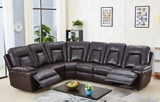 Grey Leather GEL 3 Seater Recliner 2 Reclining Armchairs Sofa Suite Newbury