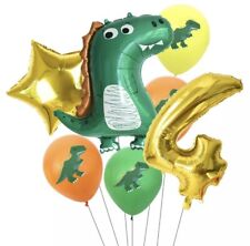Dinosaur Foil Birthday Balloons Childrens Party Number 4