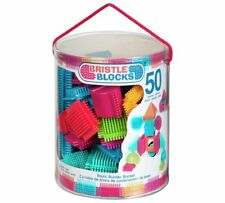 BRISTLE BLOCKS BASIC BUILDER BUCKET 50 PIECES STICKLE BRICKS BRAND NEW