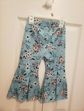 Toddler Girls Ruffle Flair Bell Bottoms With Floral Print Size 2t 3t