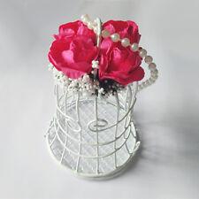 White Bird Cage Wedding Gift Box Favors Metal Birdcage Candy Party Decor