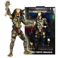 "NECA Predator Jungle Hunter Unmasked 7"" Action Figure 1:12 30th Anniversary Doll"