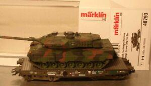 Märklin HO:  48793 Schwerlastwagen Rlmmps Panzer Leopard 2A6  NEU mit OVP