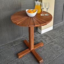 Gartentisch rund Sunrise Bistrotisch Akazienholz Holz Couchtisch Tisch Ø70,5cm