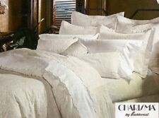 "Charisma Jules Mini Duvet Set, King Size 106"" x 94"", Color Parchment Made in USA"