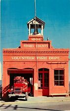 1950s Chrome Postcard; Storey County Fire Department, Virginia City Nv Unposted