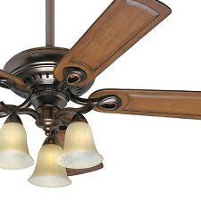 "52"" Hunter Ceiling Fan - Bronze Patina Finish - 3 Light Fixture - Free Shipping"